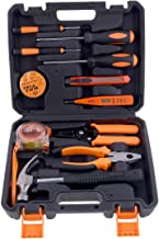 11-Piece Heavy Duty Tool Set Black/Orange/Silver