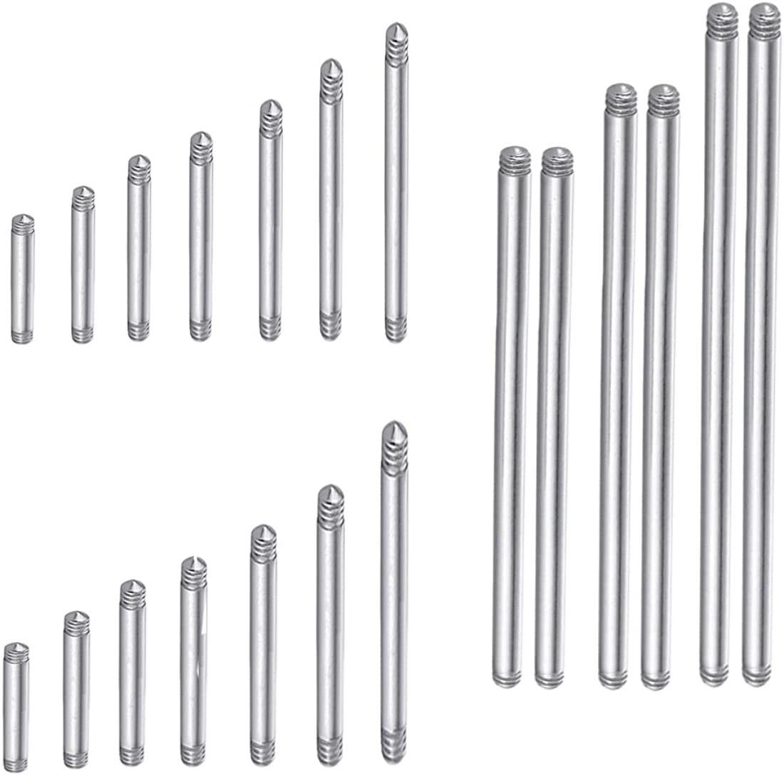 COTTVOTT 20pcs a Max 45% OFF Set Surgical Threaded Bar Barbell Steel Replace Regular discount