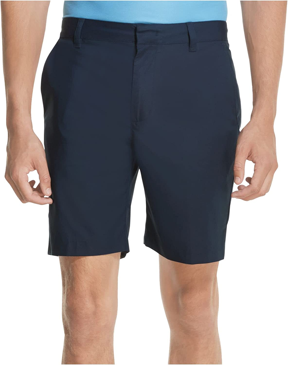 DKNY Mens Navy Flat Front Fit Stretch 36X9 100% quality warranty! Sales results No. 1 Shorts Regular