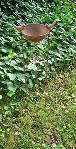 Vogeltränke an Rankgitter Futterstelle, Gartenstab, Gartenstecker