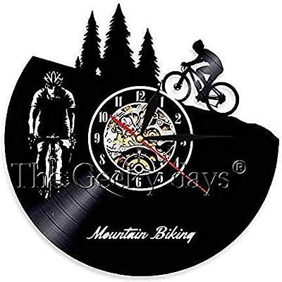 BBNNN Reloj de Pared dial Vinilo Ciclo Deportes Tema Reloj de ...