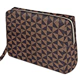 Checkered Makeup Bag Organizer, Large Make Up Bags for Women for Cosmetics Makeup Toiletry Travel