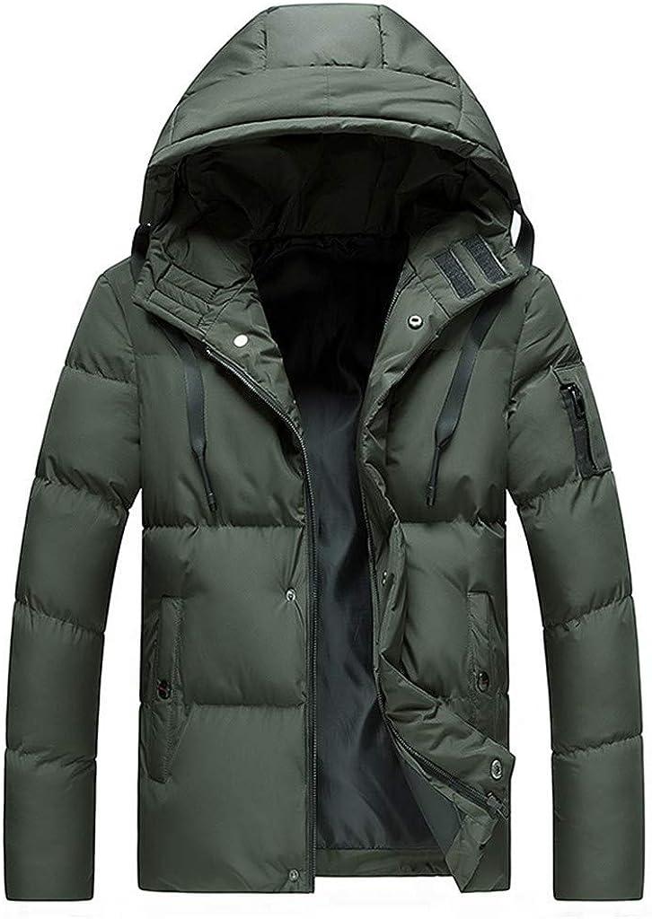 Men's Down Winter Warm Coat Zipper Hoodies Jacket Windproof Outwear
