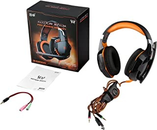 Over-Ear Game Gaming Pro Headphone Headset Earphone Headband for G2000 with Stereo Bass Noise Cancelling Orange