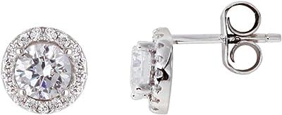 XENOX Orecchini da donna in argento sterling 925 con zirconi bianchi XS7363