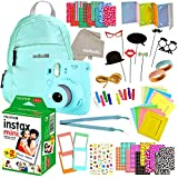 Fujifilm Instax Mini 9 Camera with Fuji Instant Film (20 Sheets) Travel Bundle & Accessories Includes Shoulder Bag,Strap, Washi Tape, Stickers, Frames + Album and More