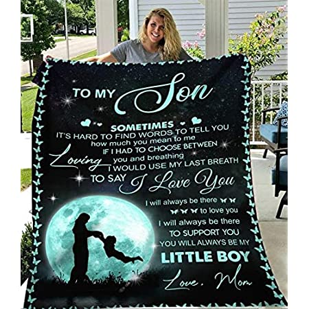 Details about  /Baby Boy vintage Blankets For Son From Mom Fleece Sherpa Blanket Gifts For Xmas