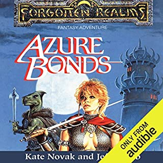 Azure Bonds     Forgotten Realms: Finder's Stone, Book 1              By:                                                                                                                                 Kate Novak,                                                                                        Jeff Grubb                               Narrated by:                                                                                                                                 Kristin Kalbli                      Length: 14 hrs and 44 mins     29 ratings     Overall 4.5