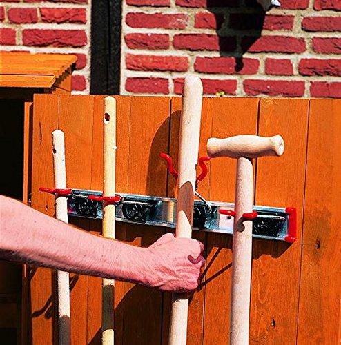PROMADINO Schiene mit 4 Gerätehaltern 50 x 14 x 5,5 cm Zubehör 358/3