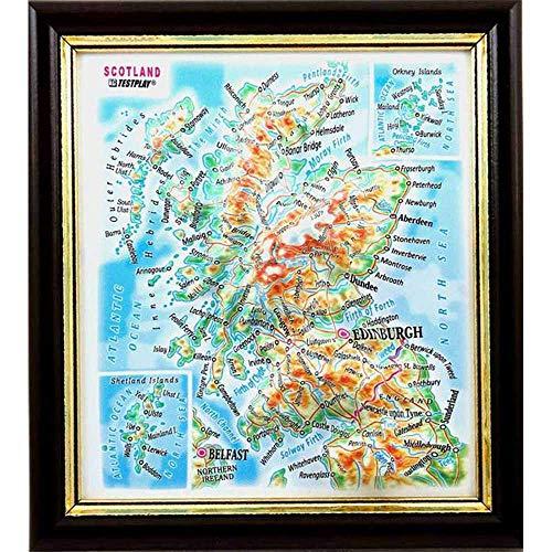 Scotland. 3D Reliefpanorama, Landkarte (3D map/Mini) (Scotland. High raised relief panorama (3D map/Mini)) [Шотландия. Высокообъемная панорама Scotland (3D map/Mini)]