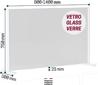 Barriera Protettiva 60x160cm Trasparente Pannelli Plexiglass Partition Schermi Divisori Posto di Lavoro Parasputo Roll Up Divisore con Base in Lega di Alluminio per Ufficio