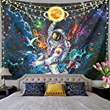 ▶TRIPPY ASTRONAUT WALL HANGING TAPESTRY MATERIAL:Wall Tapestries Made From Silky Polyester Fabric. And Basically No Smell. Which Is Soft, Durable, Safety, Lightweight And Easy To Hang Or Pack Away For Your Indoor Or Outdoor Use. ▶DIMENSION:59 length ...