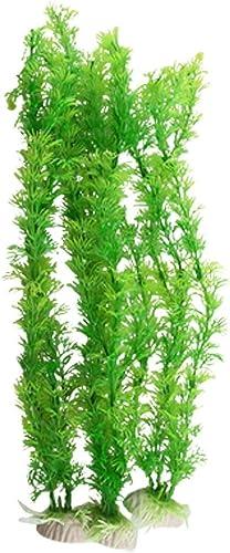 high quality Mallofusa Plastic Aquarium Ceratophyllum Grass popular popular Decoration, 3-Piece, Light Green outlet sale