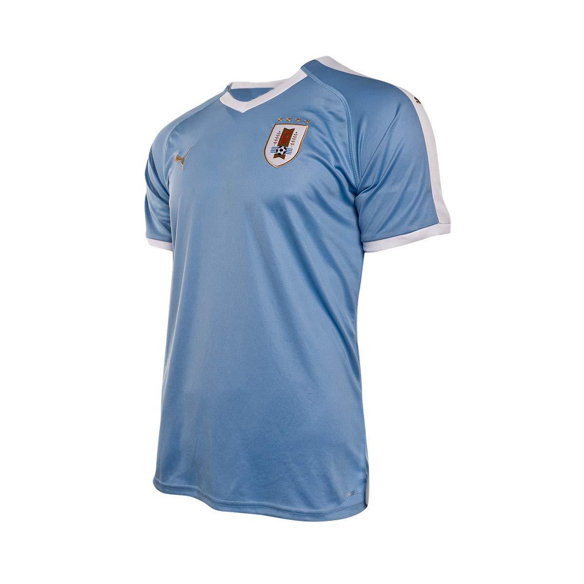PUMA Uruguay Primera Equipación 2019-2020, Camiseta, Silver Lake Blue, Talla S: Amazon.es: Deportes y aire libre