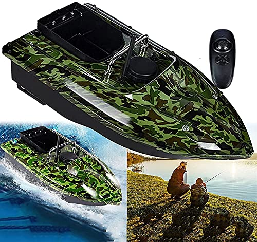 HHORB Barcos De Pesca RC, Barco De Cebo De Pesca Barco De Señuelo De Peces RC 500m Lanzamiento De Cebo Inalámbrico Yate Buscador De Peces Barco 1,5 KGS Carga De Señuelos