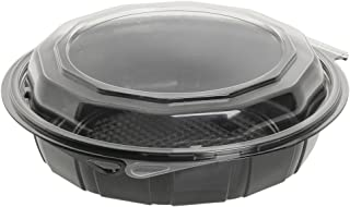 Gourmet Classics Clamshell Hinged Carryout Container 26 oz PET Deep Hinged 7 3//4Dia x 2 3//4H 100 Per Case