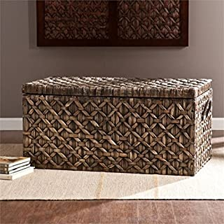 woven trunk coffee table