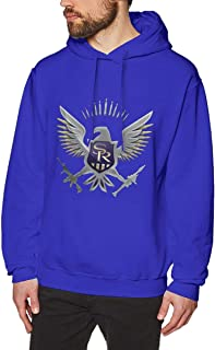 DeMaXIy Men Saints Row Restoring Ancient Ways Blue Hoodie Sweatshirt Jacket Pullover Tops