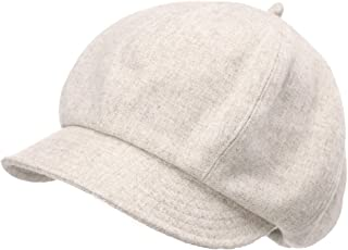 Jeff & Aimy Womens Wool Newsboy Cap Visor Berets Adjustable
