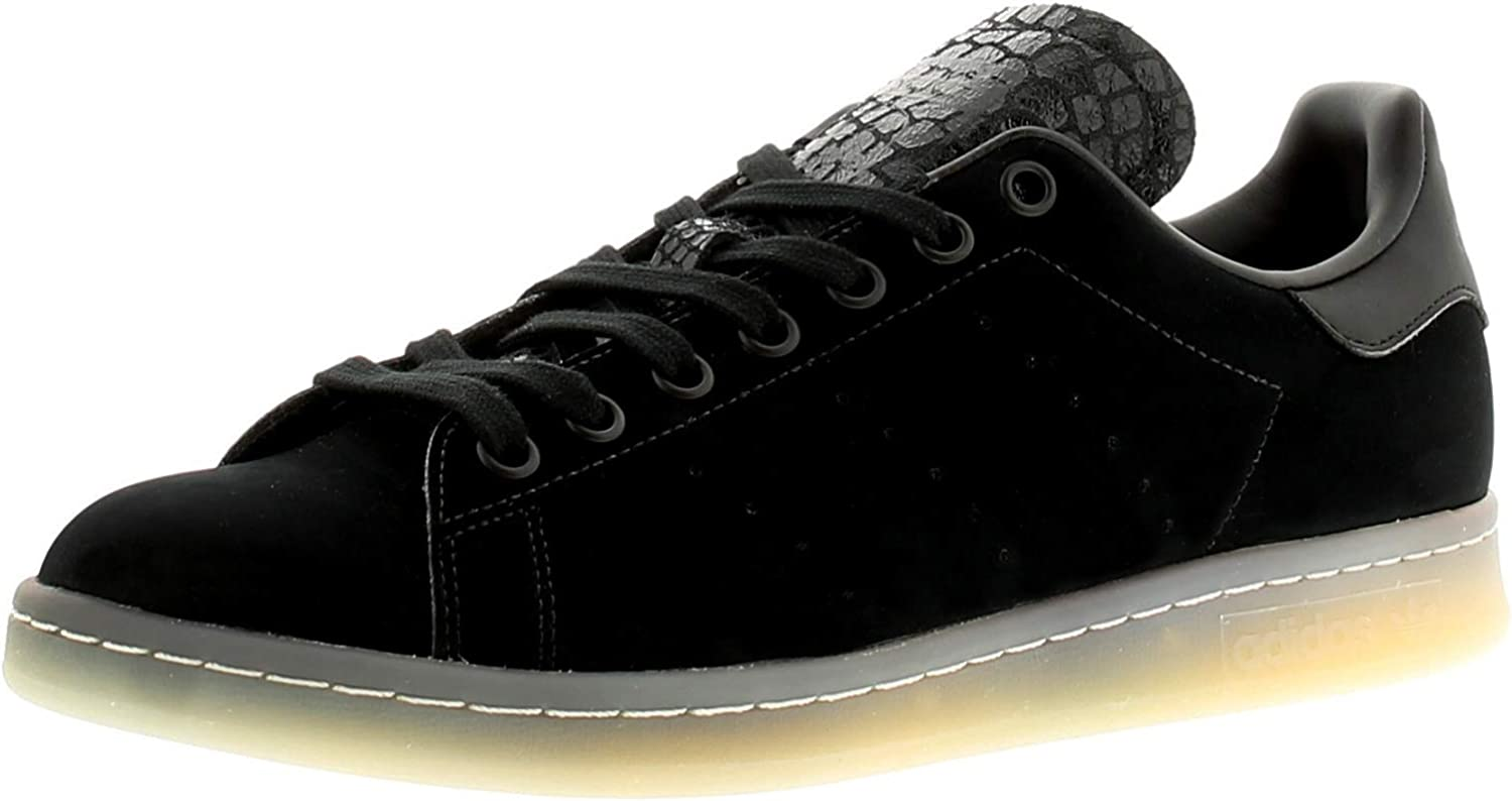 Adidas Originals Stan Smith Mens Suede Leather Material Trainers Black
