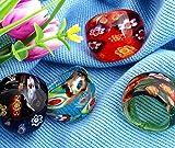 Skyllc 4 X Sortijas Anillos Cristal de Murano Flor Lampwork