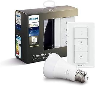 Philips Hue White & Color Ambiance E27 Bezprzewodowy Zestaw Oświetleniowy z Żarówką, Tworzywo Sztuczne, Biały, 9 W, 2 Części