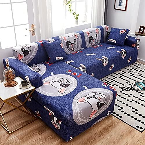 WXQY Funda de sofá Moderna para Sala de Estar, Funda elástica, Funda de sofá, Funda de sillón de Esquina en Forma de L, Funda de sofá, Funda de sofá A24, 3 plazas