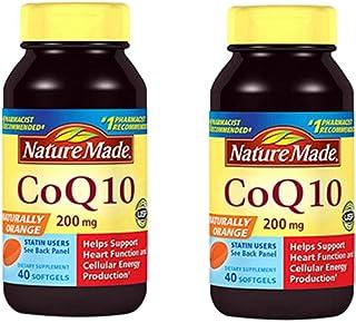 2瓶装|Nature Made 天维美 辅酶 Q10 辅酶软胶囊 200 mg*40粒 心脑血管健康 美国品牌 包税