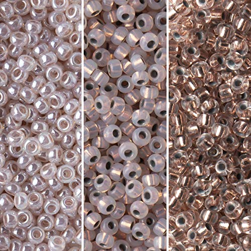 Fusion Beads Miyuki Round Seed Beads Bundle: Size 11/0, Coppers Palette Collection 197, 198, 542 - 3 Tubes of 23 Grams Each