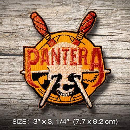 PANTERA Heavy metal parche patch bordado con logotipo para planchar de hierro...