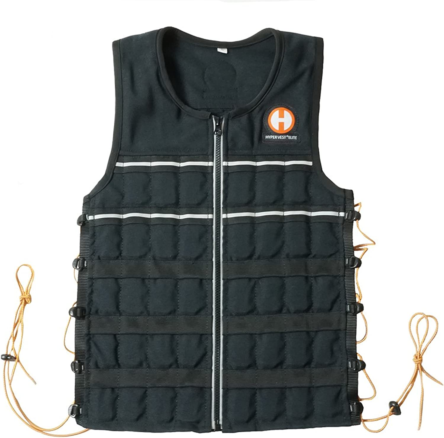 Hyperwear Hyper Vest Elite 15lbs 20lbs max Weight Comfortable Adjustable Weighted Vest for Men or Women with Durable Cordura Fabric, Reflective Trim, and Shock Cord Side Lacing