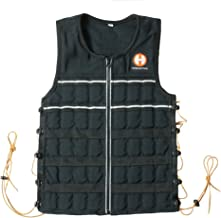 Hyperwear Hyper Vest Elite Adjustable Weighted Vest 10lbs/15lbs/20lbs, Black Tough Cordura, Thin Steel Running Weights, Reflective Shock Cord and Trim, Thin Great Fit for Men and Women