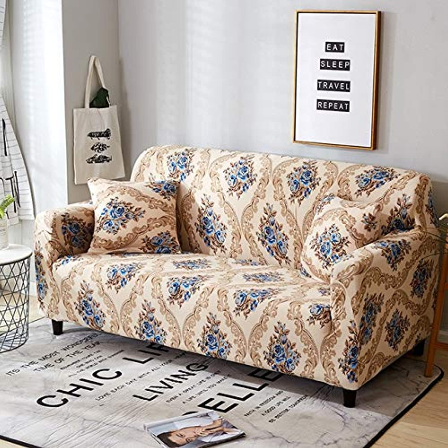 Elastic Sofa Tight Wrap All-Inclusive Slip-Resistant Sofa Cover seat Couch Covers Sofa Towel Single Two Three Four-Seater   5883, 1 Seater 90-140cm
