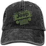 Jeep Denim Hat Adjustable Mens Funny Baseball Caps,Sombreros y Gorras