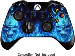 Skins Stickers for Xbox One Games Controller - Custom Orginal Xbox 1 Remote Controller Wired Wireless Protective Vinyl Decals Covers - Leather Texture Protector Accessories - Blue Daemon