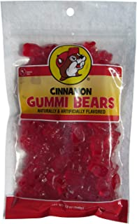 Buc-ees Cinnamon Flavored Gummi Bears in a Resealable Bag, 12 Ounces