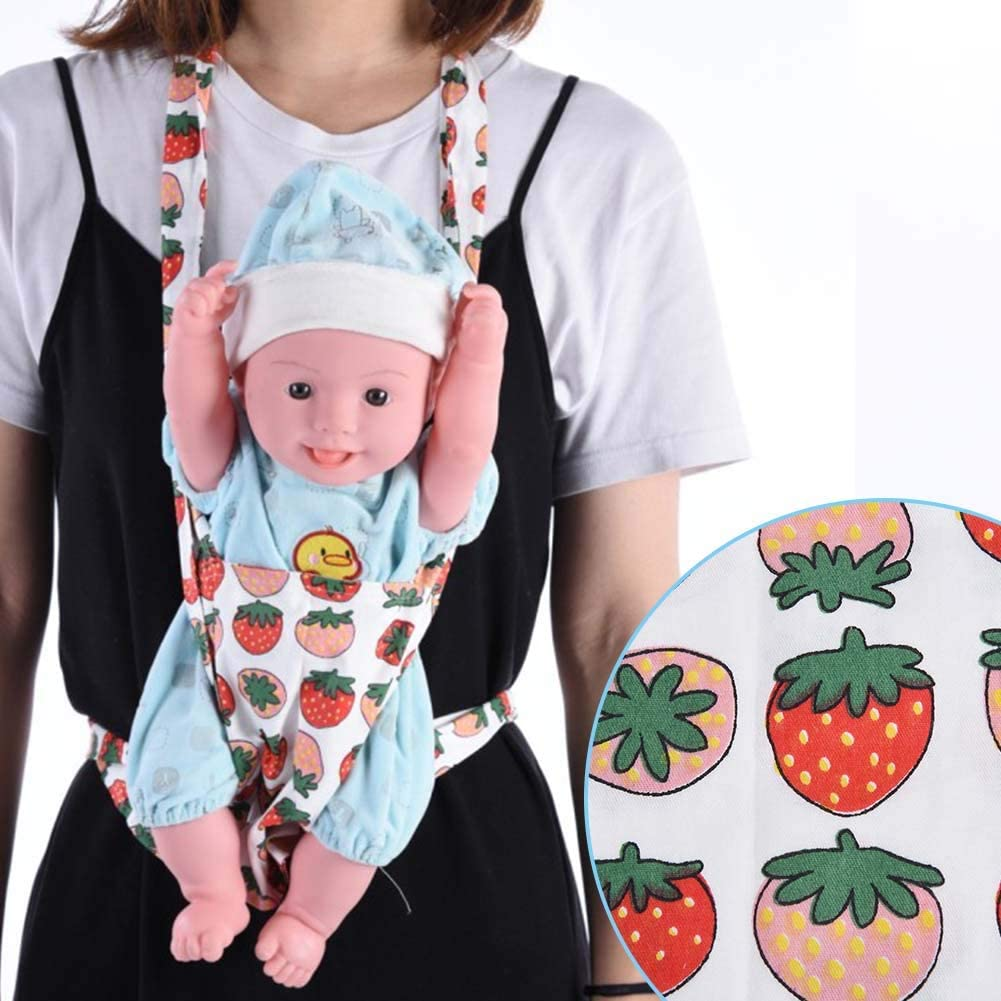 Baby Safety Strap Back,Convenient Cotton Breathable Safe Shoulder Sling Carrier Kids Toy Carrier Easy To Wash Baby(Strawberry)