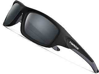 3ba5190b5bd TOREGE Polarized Sports Sunglasses for Man Women Cycling Running Fishing  Golf TR90 Unbreakable Frame TR011 -