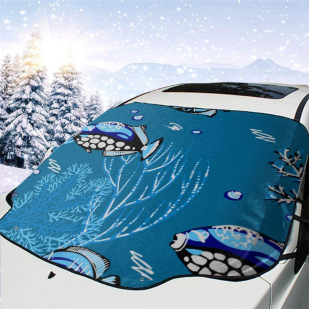 HRRPS Car Front Windshield Max 65% OFF San Diego Mall Cover Corals Tropical Starfishes Sea