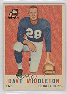 Dave Middleton (Football Card) 1959 Topps - [Base] #113