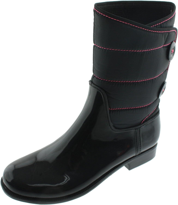 GreenBox Official Women Glossy Fashion Rain Boots Heel Boot