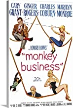 GREATBIGCANVAS Gallery-Wrapped Canvas Monkey Business - Vintage Movie Poster by 12