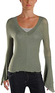 Free People Womens Soo Dramatic Knit Blouse