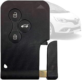 OcioDual Autoschlüssel Ersatz Fernbedienung Schlüssel Schlüsselanhänger Flip mit 3 Tasten Schwarz für Renault Clio Megane Scenic