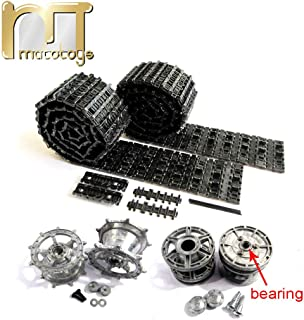 Mato King Tiger Metal Tracks Sprockets Driving Wheels idlers Set for Heng Long 3888-1 3888A-1 1 16 RC Kingtiger Tank Bearings