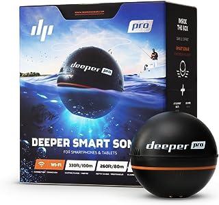 Deeper Pro Smart Sonar Castable y portátil Smart Sonar WiFi buscador de peces para kayaks y barcos en la costa Carpa Pesca...