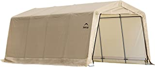 ShelterLogic 10' x 20' x 8' All-Steel Metal Frame Peak Style Roof Instant Garage and AutoShelter with Waterproof and UV-Treated Ripstop Cover