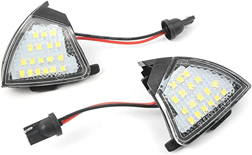 high quality Mallofusa Car LED Side Mirror Puddle Light Lamp 6000K White Light Compatible for online Volkswagen Jetta sale 2005-2009 Passat (B6) 2006-2010 R32 2008 2pcs online
