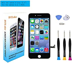 Premium Screen Replacement, Compatible iPhone 8 Plus 5.5 inch LCD Replacement Screen with 3D Touch Screen Digitizer Fram Assembly Full Set + Free Tools(Black)