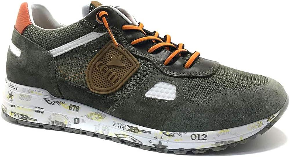 CETTI C-1216, Sneakers, para Hombre, Color Verde Militar